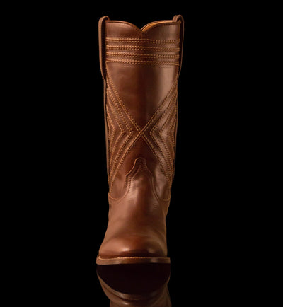 Mens Frio County - Modern Cowboy Boots - Ranch Road Boots™ Front Stitching Detail