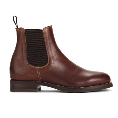 Mens Rambler Cognac Leather Classic Chelsea Boots - Ranch Road Boots™