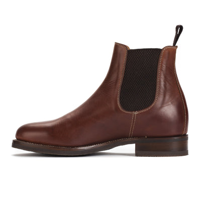 Mens Rambler Cognac Leather Classic Chelsea Boots - Ranch Road Boots™ Inner Side