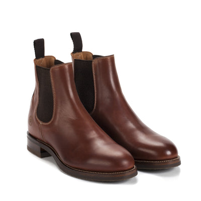 Mens Rambler Cognac Leather Classic Chelsea Boots - Ranch Road Boots™ Front Side Pair View