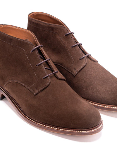Mens Redseed Chukka Brown Suede Boot - Ranch Road Boots™ Side Stitching View