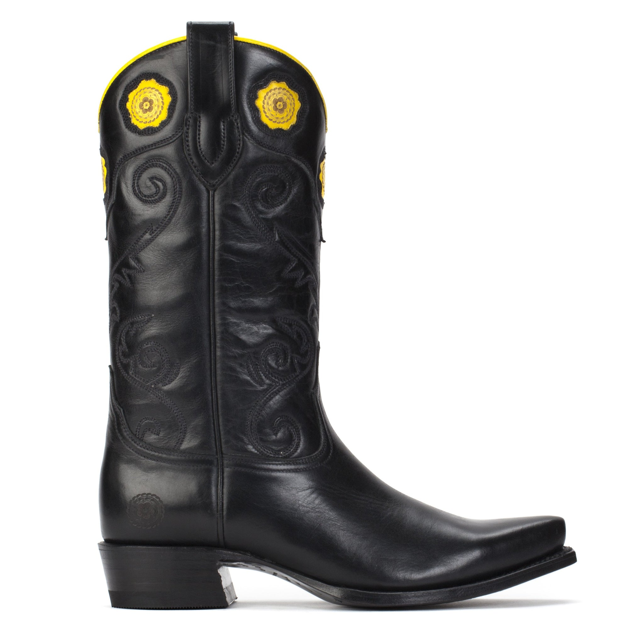 Womens Rosette Black - Handmade Cowgirl Boots - Ranch Road Boots™