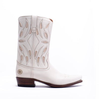 Womens Sagebrush White Leather Cowboy Boot - Ranch Road Boots™