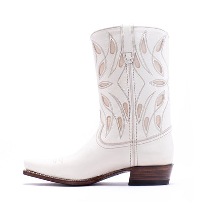 Womens Sagebrush White Leather Cowboy Boot - Ranch Road Boots™ Inner Side