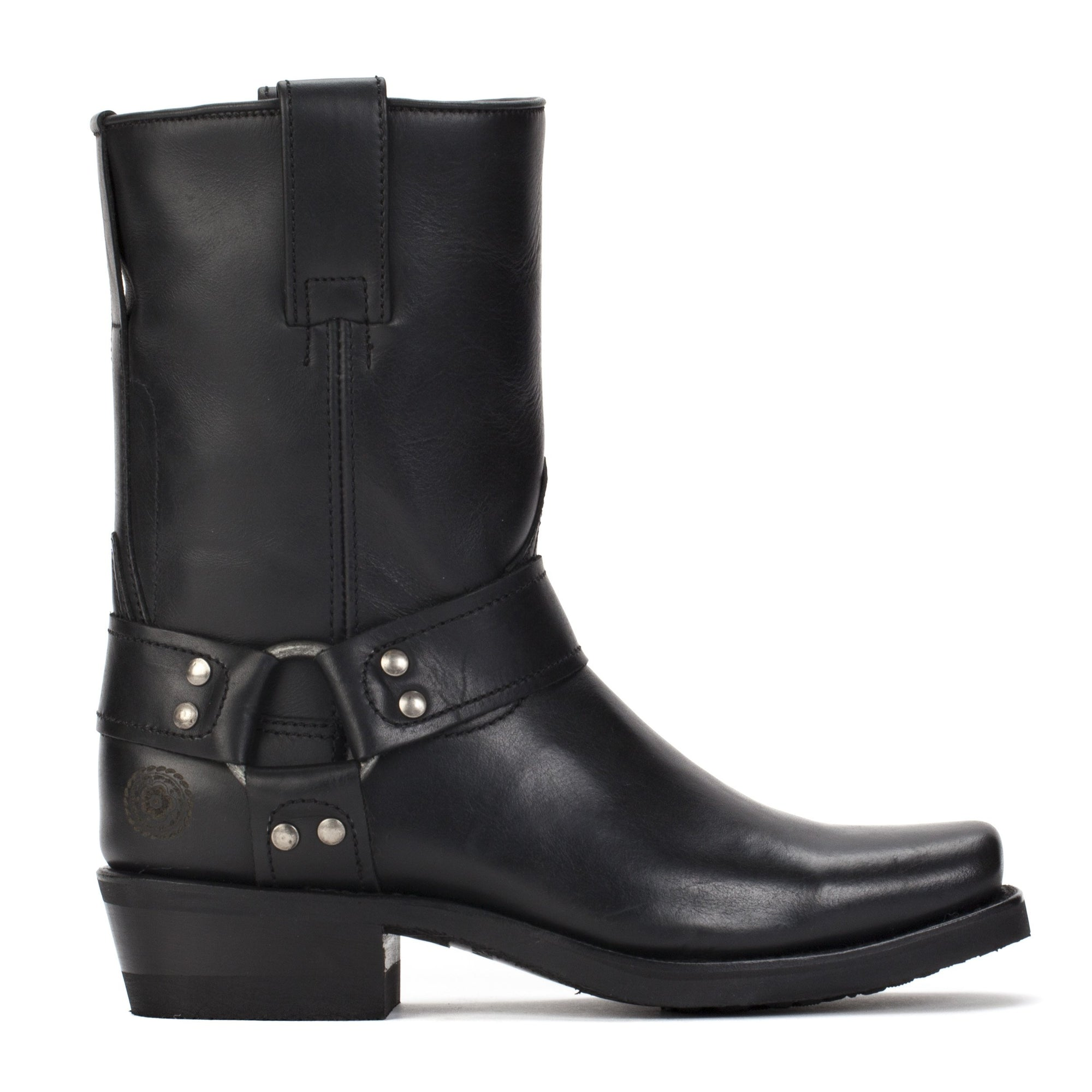 Womens Sarah Black - Leather Moto Boots - Ranch Road Boots™