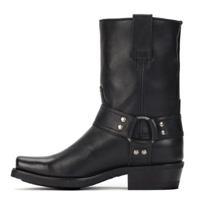 Womens Sarah Black - Leather Moto Boots - Ranch Road Boots™ Inner Side