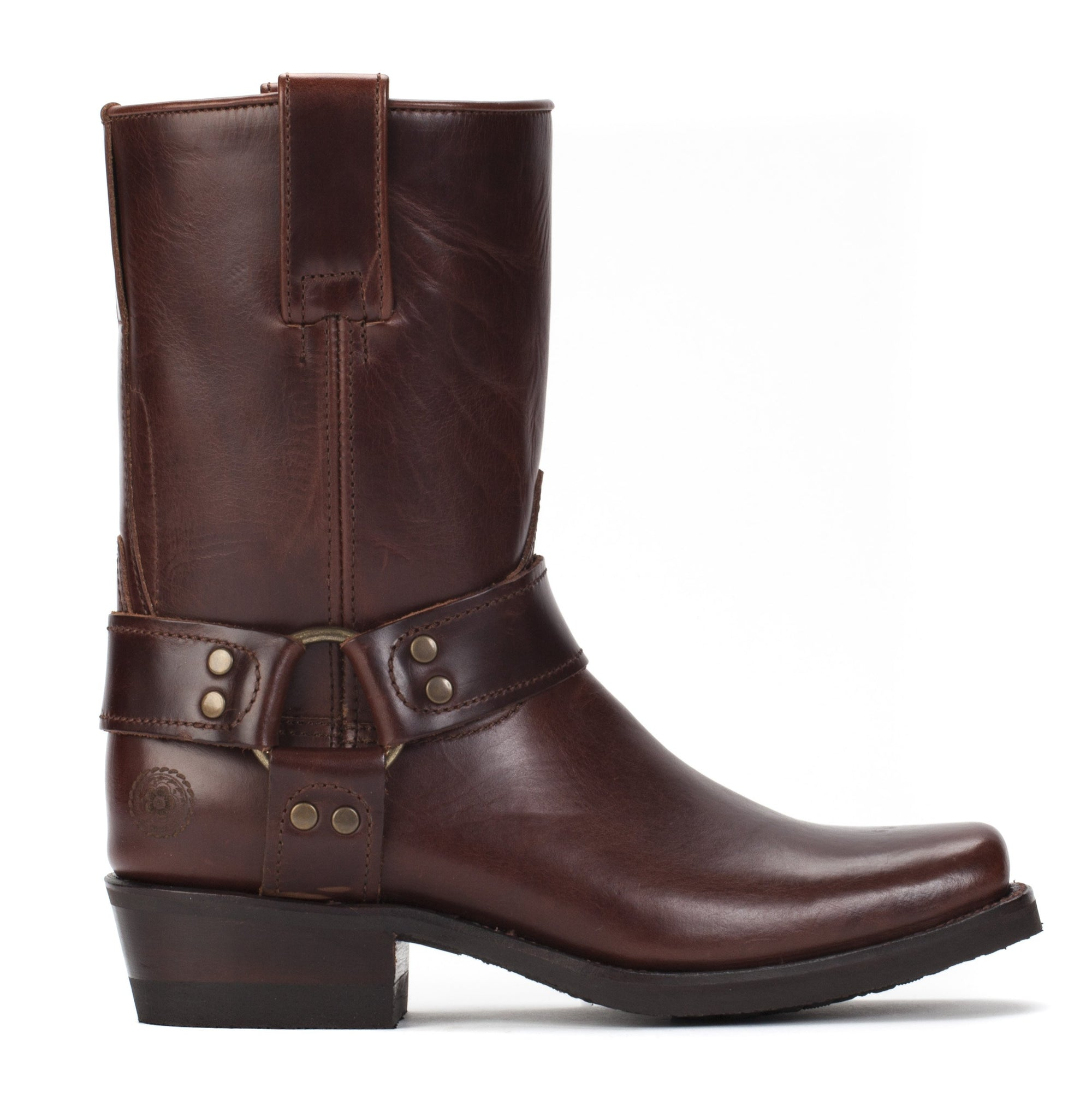 Womens Sarah Brown - Leather Moto Boots - Ranch Road Boots™