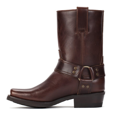 Womens Sarah Brown - Leather Moto Boots - Ranch Road Boots™ Inner Side