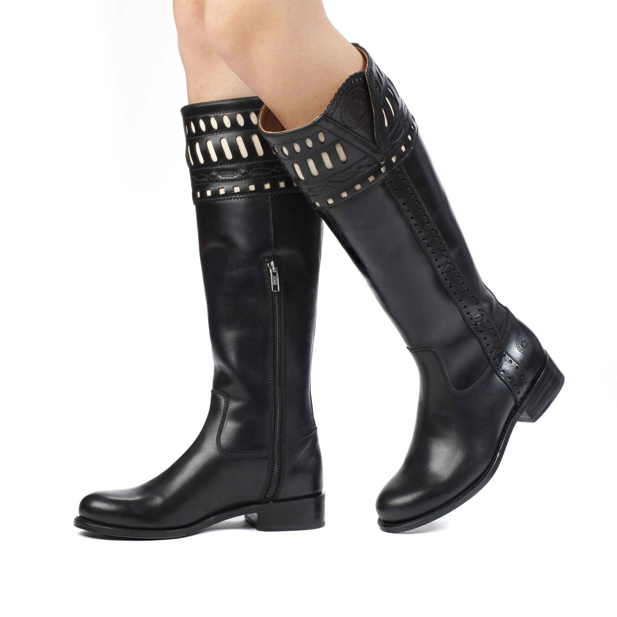 Womens Shelby Black - Classic English Riding Boots - Ranch Road Boots™