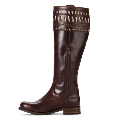 Womens Shelby Brown - Classic English Riding Boots - Ranch Road Boots™ Zipper Side