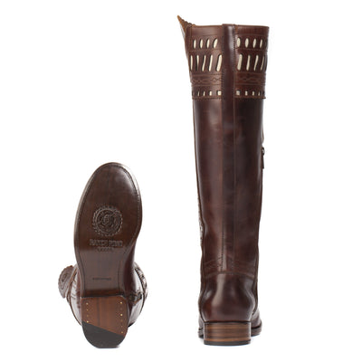 Womens Shelby Brown - Classic English Riding Boots - Ranch Road Boots™ Heel and Bottom