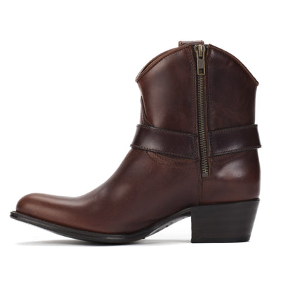 Womens Trinity Brown - Leather Western Ankle Boots - Ranch Road Boots™ Inner Side