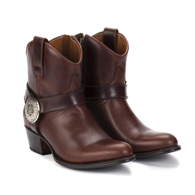 Womens Trinity Brown - Leather Western Ankle Boots - Ranch Road Boots™-Front Pair View
