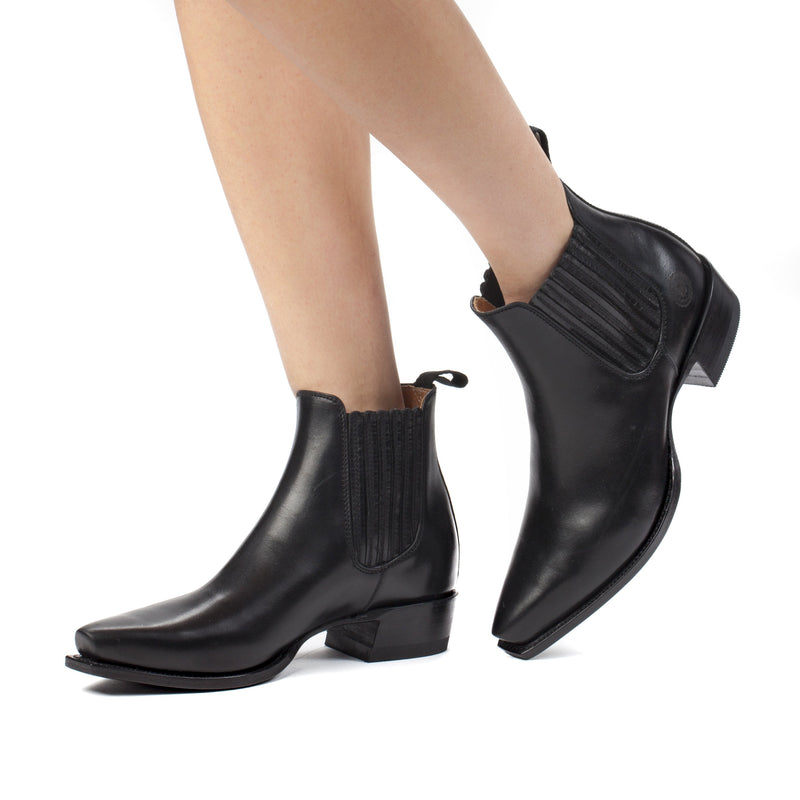 Womens Veronica Black Chelsea Boots Handmade by  Ranch Road Boots™ - Side