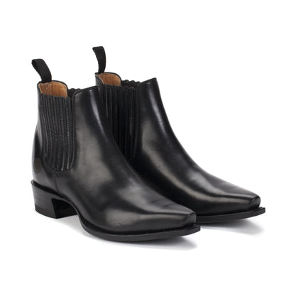 Womens Veronica Black Chelsea Boots Handmade by  Ranch Road Boots™ - Pair Side