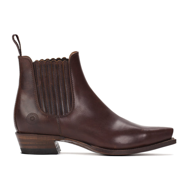 Ranch Road VERONICA WESTERN CHELSEA BOOTS in BROWN