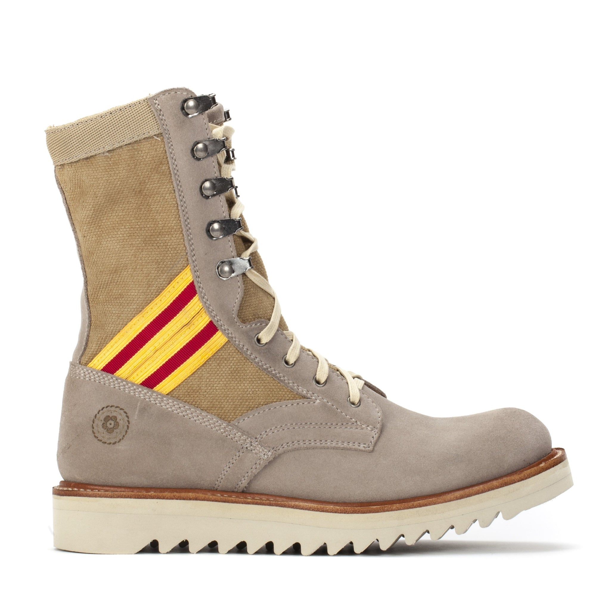 Women's Current Issue Sand Scarlett & Gold Boots - Ranch Road Boots™- Outer Side View