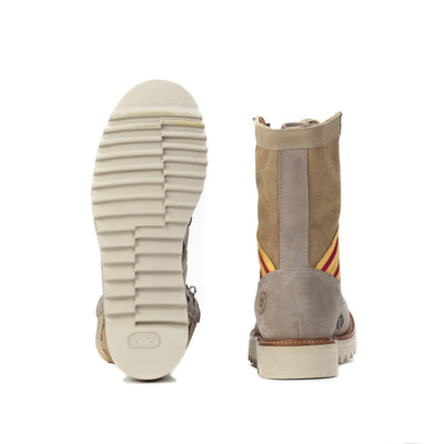 Women's Current Issue Sand Scarlett & Gold Boots - Ranch Road Boots™-Pair Heel and Bottom Sole View