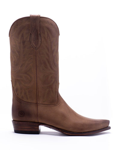 Mens Yoakum Tan Leather Western Boot - Ranch Road Boots™-outer side