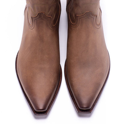 Mens Yoakum Tan Leather Western Boot - Ranch Road Boots™ Top Of Foot Pair