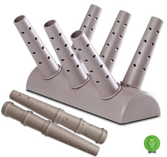Green Glove Dryer for Hats, Gloves, Shoes and Mittens - Floor Unit, Grey w/ 2 Extension Nozzles