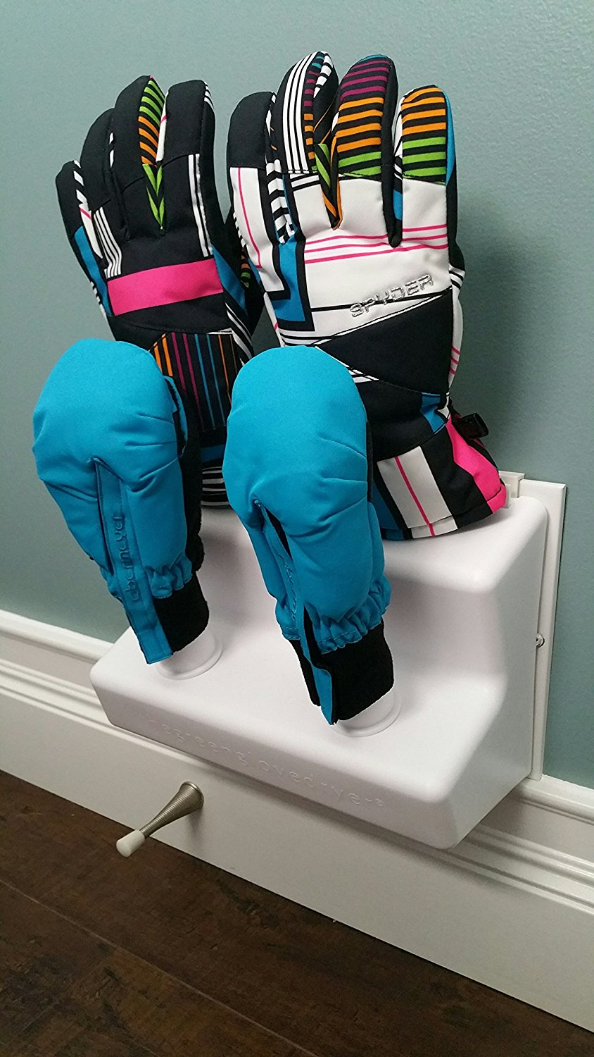 Green Glove Dryer for Hats, Gloves, Shoes and Mittens - Wall Unit