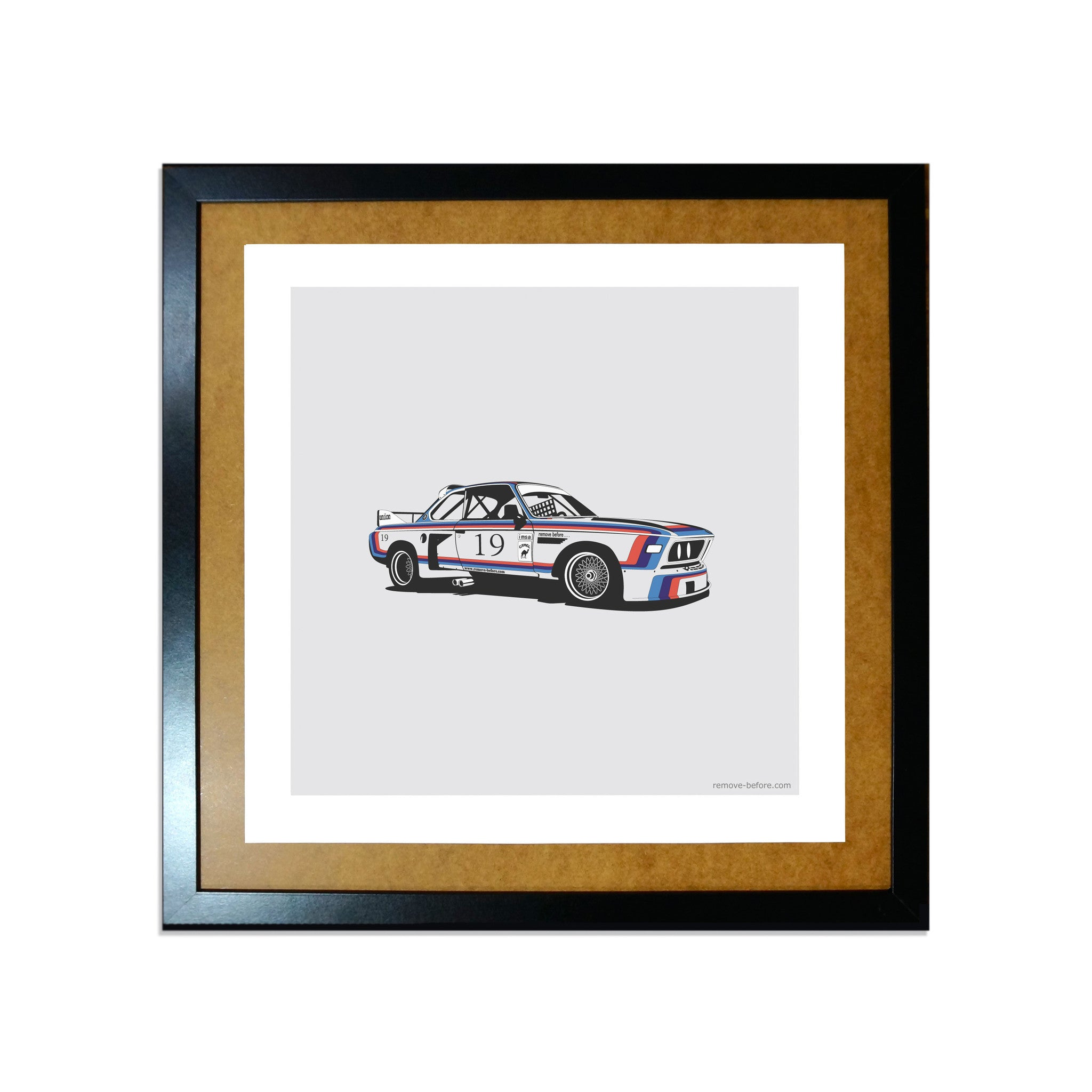 Remove-Before Limited Edition Classic Car Print - BMW CSL Car Artwork