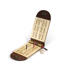 Walnut Studiolo Travel Cribbage Board Game