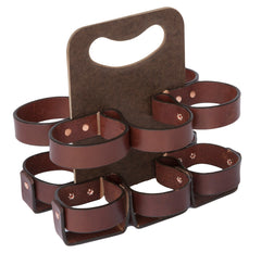 "Walnut Studiolo ""The Spartan Carton"" 6-Pack - Dark Brown/Masonite"