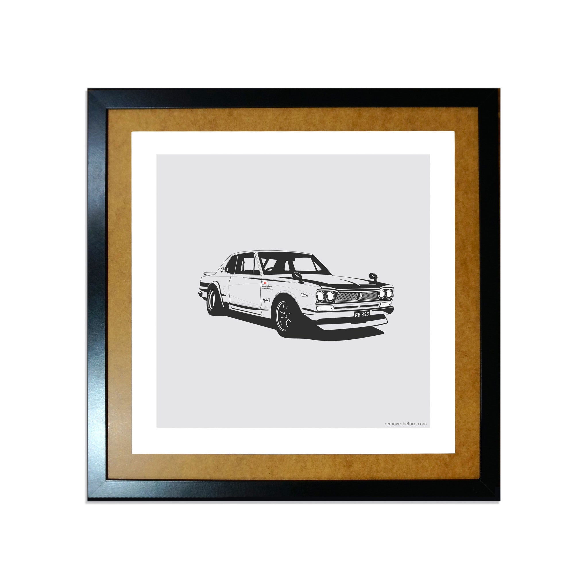 Remove-Before Limited Edition Classic Car Print - Nissan KPGC10 Car Artwork