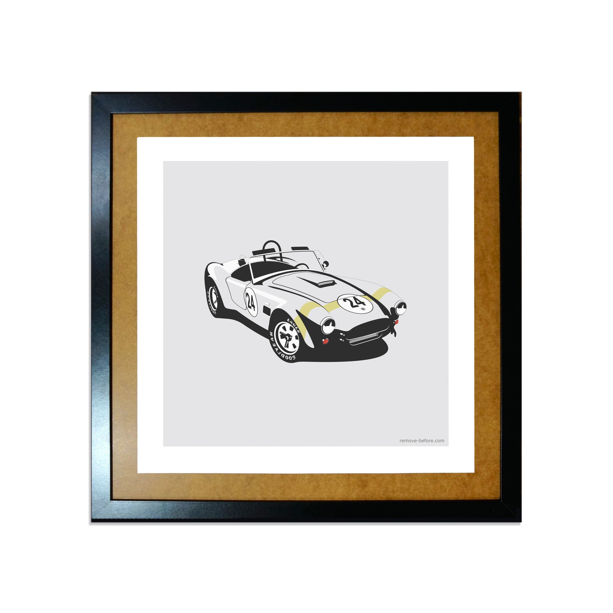 Remove-Before Limited Edition Classic Car Print - Shelby Cobra Car Artwork