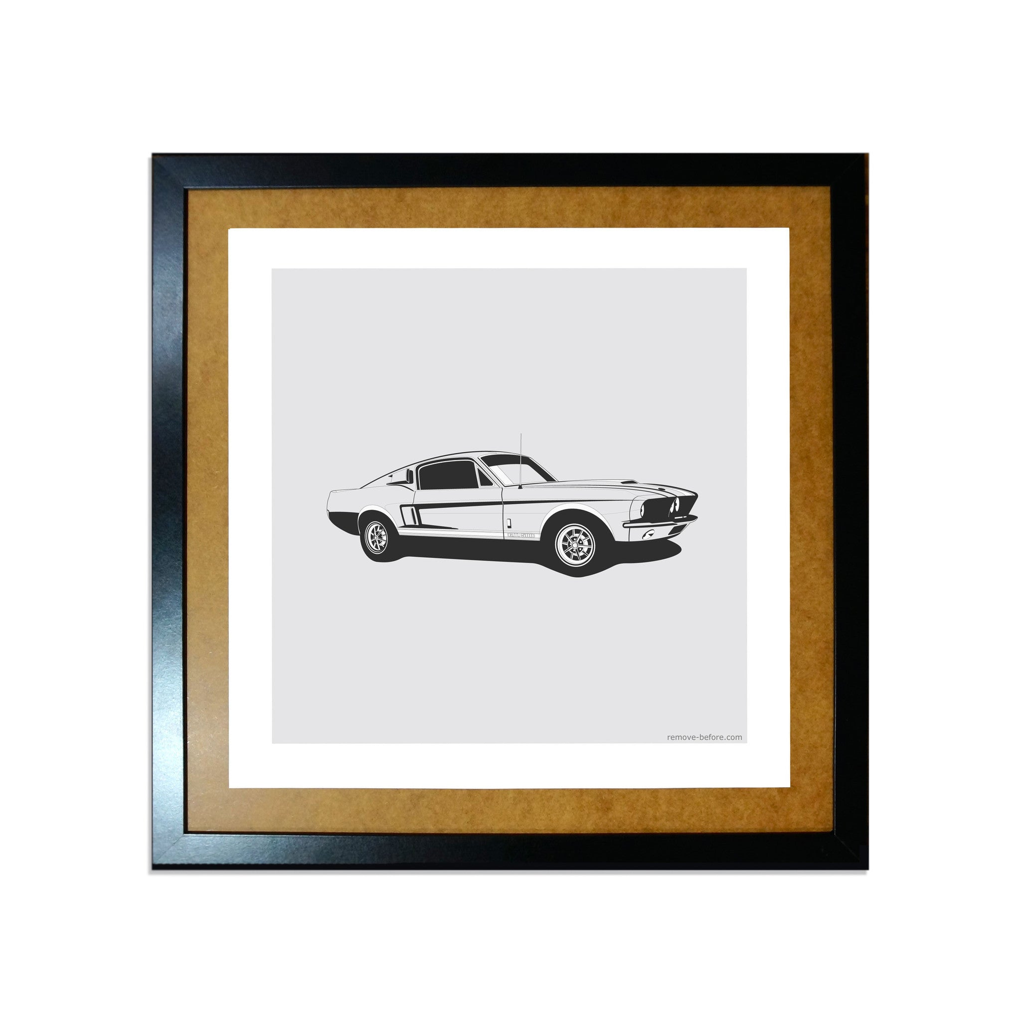 Remove-Before Limited Edition Classic Car Print - Shelby GT 500 Car Artwork