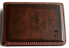 Slim Timber Walnut Wood Bi-Fold Wallet