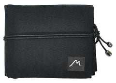 Watch Roll for Travel Storage  made w/ Soft Vegan Suede & Canvas by Metier Life - 4 Pocket, Black