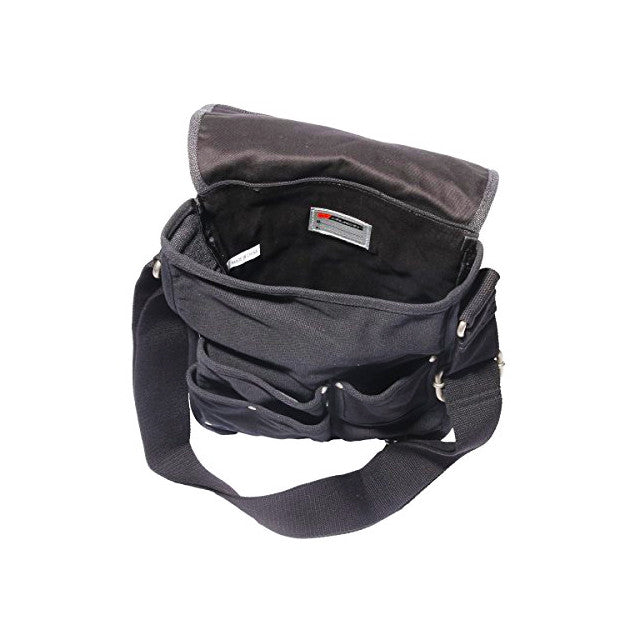 Inside of Ducti black deployment messenger bag
