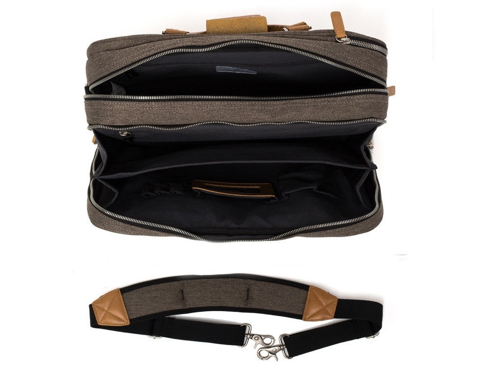Venque Craft Co. Hamptons Briefcase - Brown