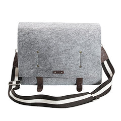 Front of Ducti Grey hell storm utility messenger bag