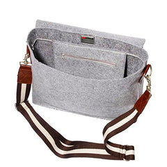 Inside of Ducti Grey hell storm utility messenger bag