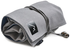 Watch Roll for Travel Storage  made w/ Soft Vegan Suede & Canvas by Metier Life - 4 Pocket, Grey