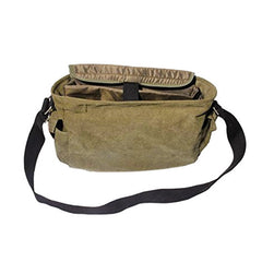 Inside of Ducti Green Miramar messenger bag