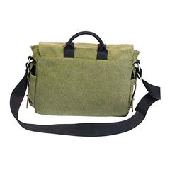 Back of Ducti Green Miramar messenger bag