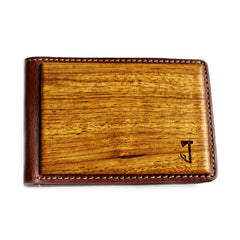 Slim Timber Zebrawood Wood Bi-Fold Wallet