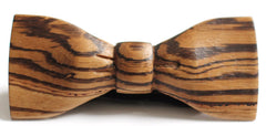 Slim Timber Zebrawood Wood Bow Tie