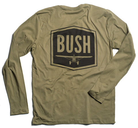 """BUSH"" Long Sleeve T (Olive)"