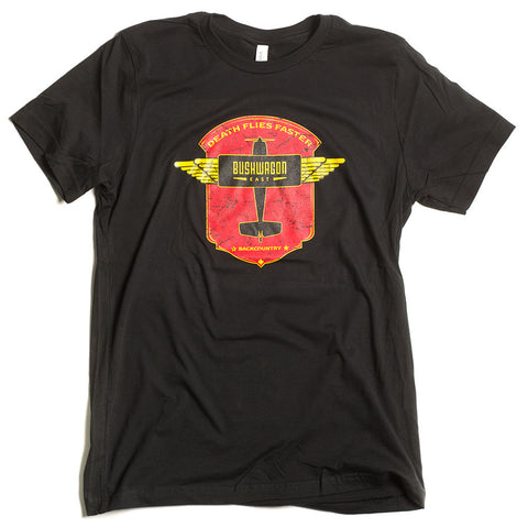 """Death Flies Faster"" Mens T (Black)"