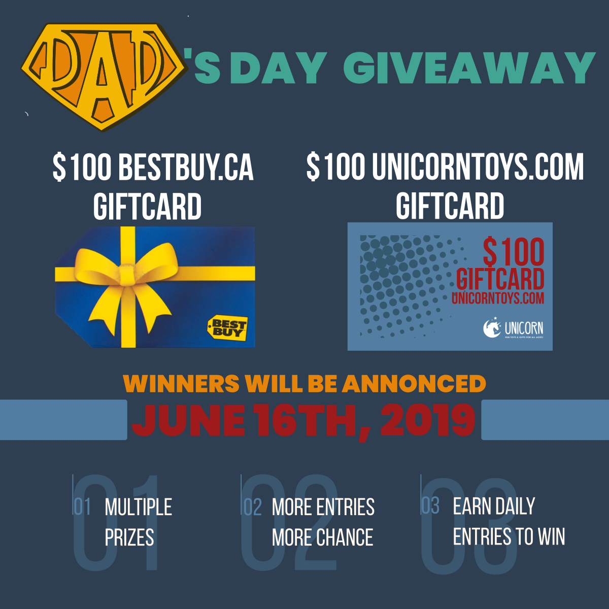 Super Dad Giveaway: Let's celebrate this Father's Day your way!
