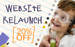 Website Relaunch Promotion - 20% off your entire order!