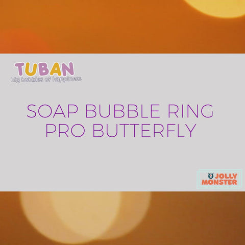 Tuban Bubble Butterfly Set - 250ml Bubble Liquid + Soap Bubble Ring Butterfly (15.5in/40cm)