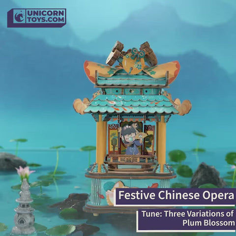 Festive Chinese Opera (+ PDF English Manual) - Ancient China DIY Music Box