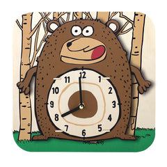 Cartoon Clock Bear